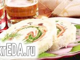 Сандвічі з сьомгою і сиром