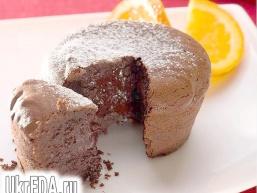 Шоколадні кекси з рідкою начинкою