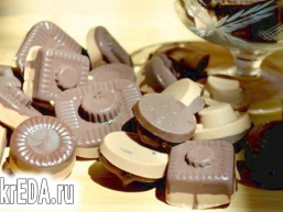 Шоколадні цукерки з начинкою