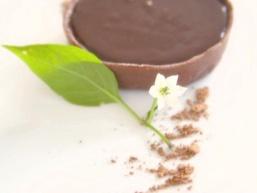 Шоколадні тарталетки з шоколадно-кавовим кремом
