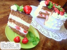 Шоколадний бісквітний торт