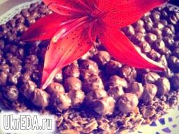 Шоколадний хрусткий торт