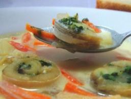 Вершковий суп з Рибне спіралькамі