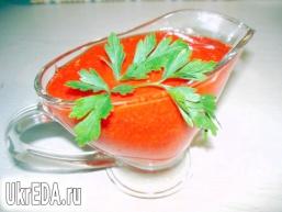 Соус гострий з помідорів і перцю