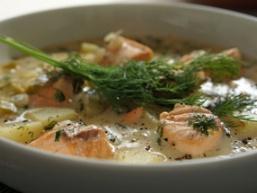Суп з консервованої горбуші