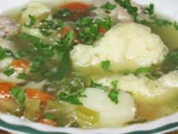Суп картопляний з галушками