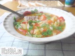 """Суп м'ясний з болгарським перцем """"Всі фарби осені"""""""