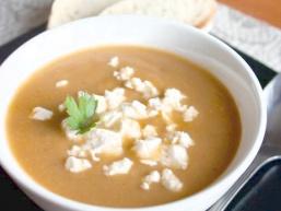 Суп-пюре з печених баклажанів