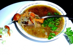 Суп з грибами и квашеною капустою
