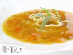 Суп з кальмарами і естрагоном