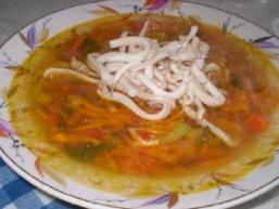 Суп з кальмарами