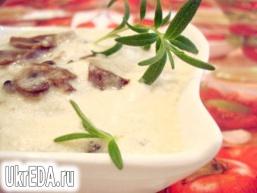 Сирно грибний соус