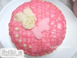 Торт з полуничним кремом