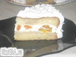 """Торт зі сметанно-сирним желе """"Повітряний"""""""