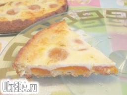 Сирний пиріг з абрикосами