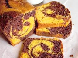 Гарбузово-шоколадний мармуровий кекс