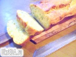 Гарбузовий хліб з зеленою цибулею і сиром