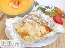 Вечеря з курячого філе з гарбузом і картоплею