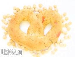 Закусочні кренделі з болгарським перцем і зеленню