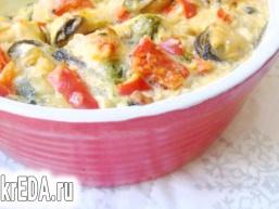 Запіканка з мідій з овочами
