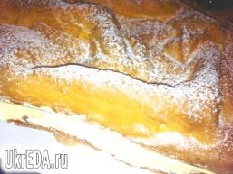 Заварний пиріг з кремом