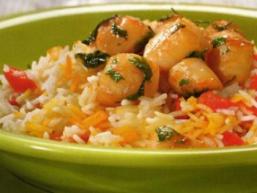 Смажені гребінці з рисом
