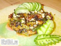 Смажені кабачки з часником і соєвим соусом