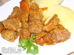 Соєве м'ясо по-індійськи