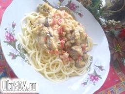 Спагетті з морепродуктами