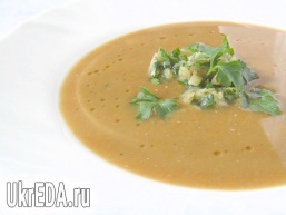 Суп-пюре з сочевиці з морквою