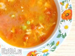 Томатний курячий суп