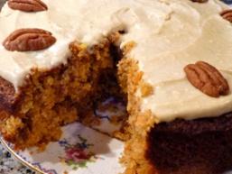 Пісний морквяний пиріг