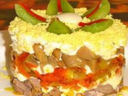 Салат з яловичого серця і волоських горіхів для годуючої мами