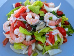 Салат «морський коктейль»