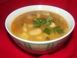 Суп курячий з квасолею