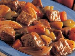 Печеня з яловичини з овочами