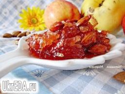 Яблучно-айвовое варення з мигдалем і ромом