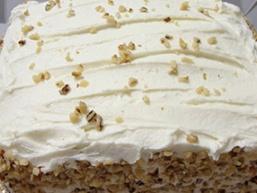 Торт сметанний з горіхами